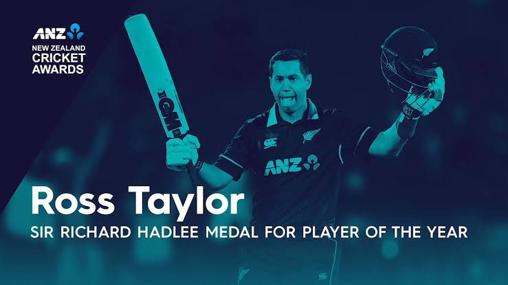 Ross Taylor announced New Zealand Cricket's Player of the Year for the Third time.